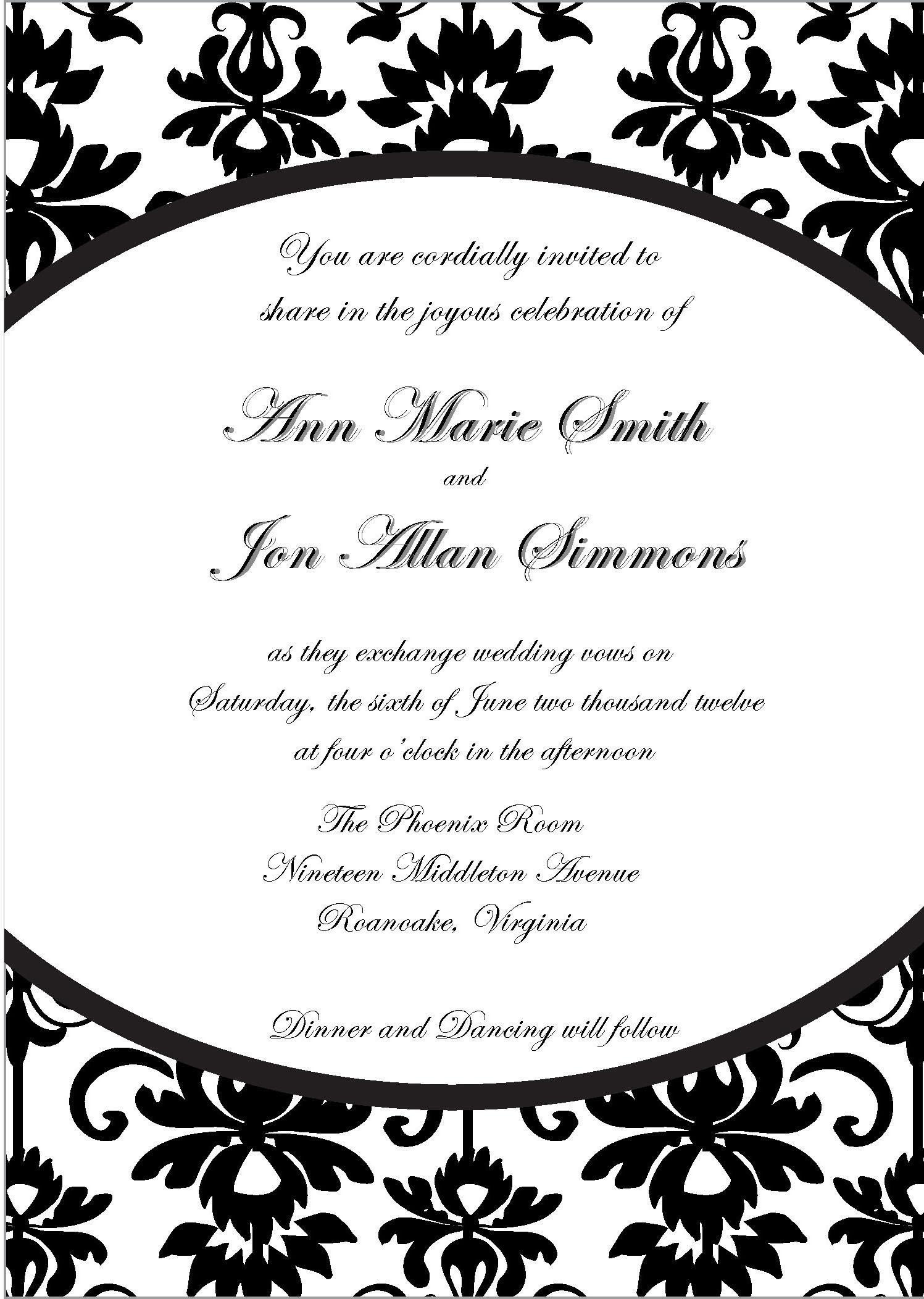 Photo : Printable Bridal Shower Invitation Image - Free Printable Black And White Baby Shower Invitations
