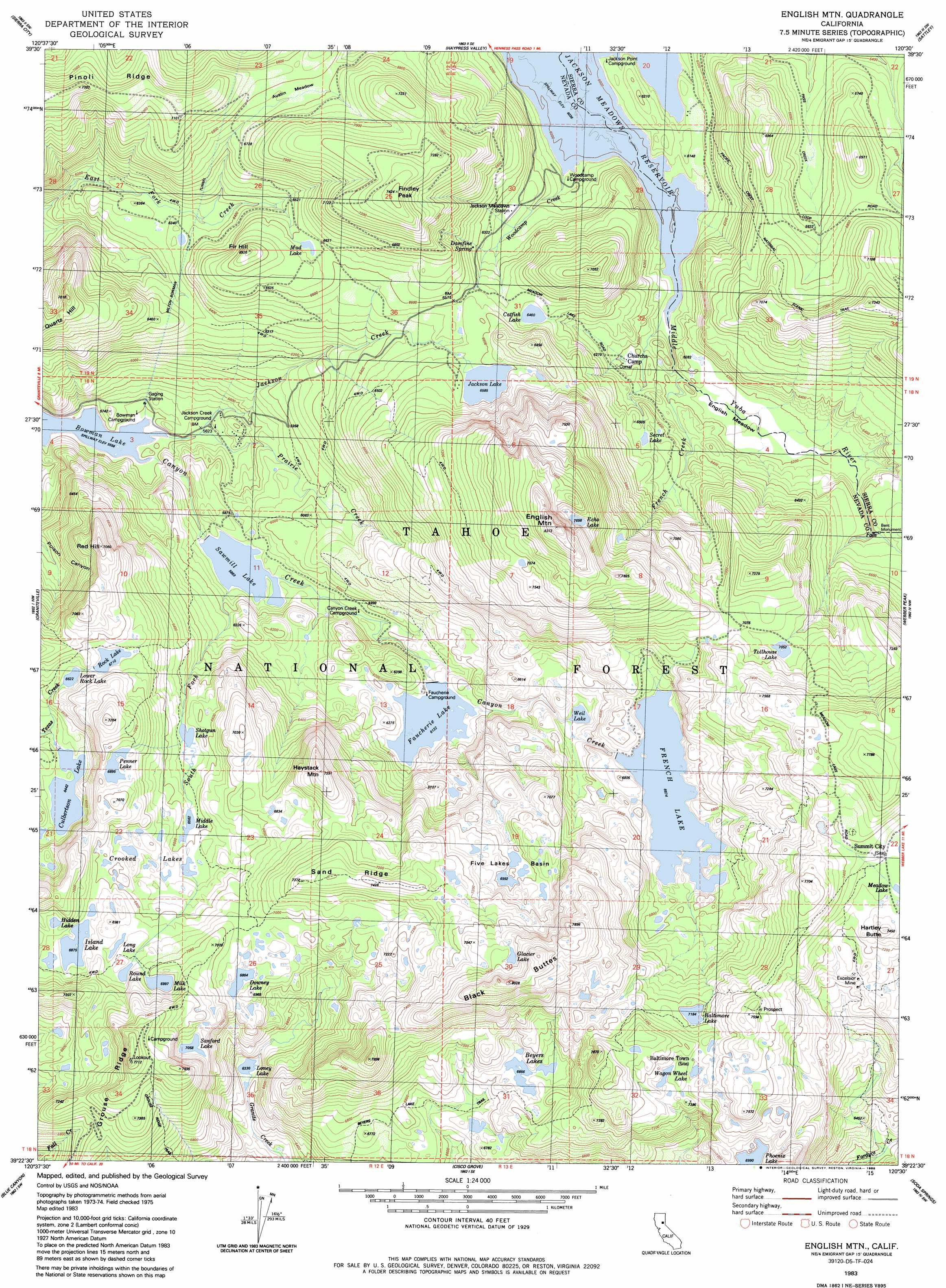 Physical Map Of California With Mountains Free Printable English - Free Printable Topo Maps