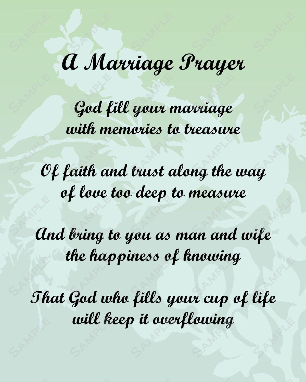 Pick A Poem For Bride And Groom | Marriage Prayer Poem Love Poem For - Free Printable Love Poems For Him