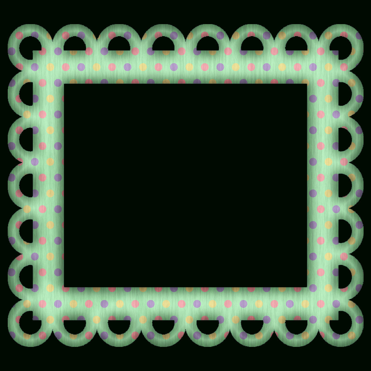 Picture Frames For Scrapbooking Free | Free Green Polka Digi - Free Printable Frames For Scrapbooking