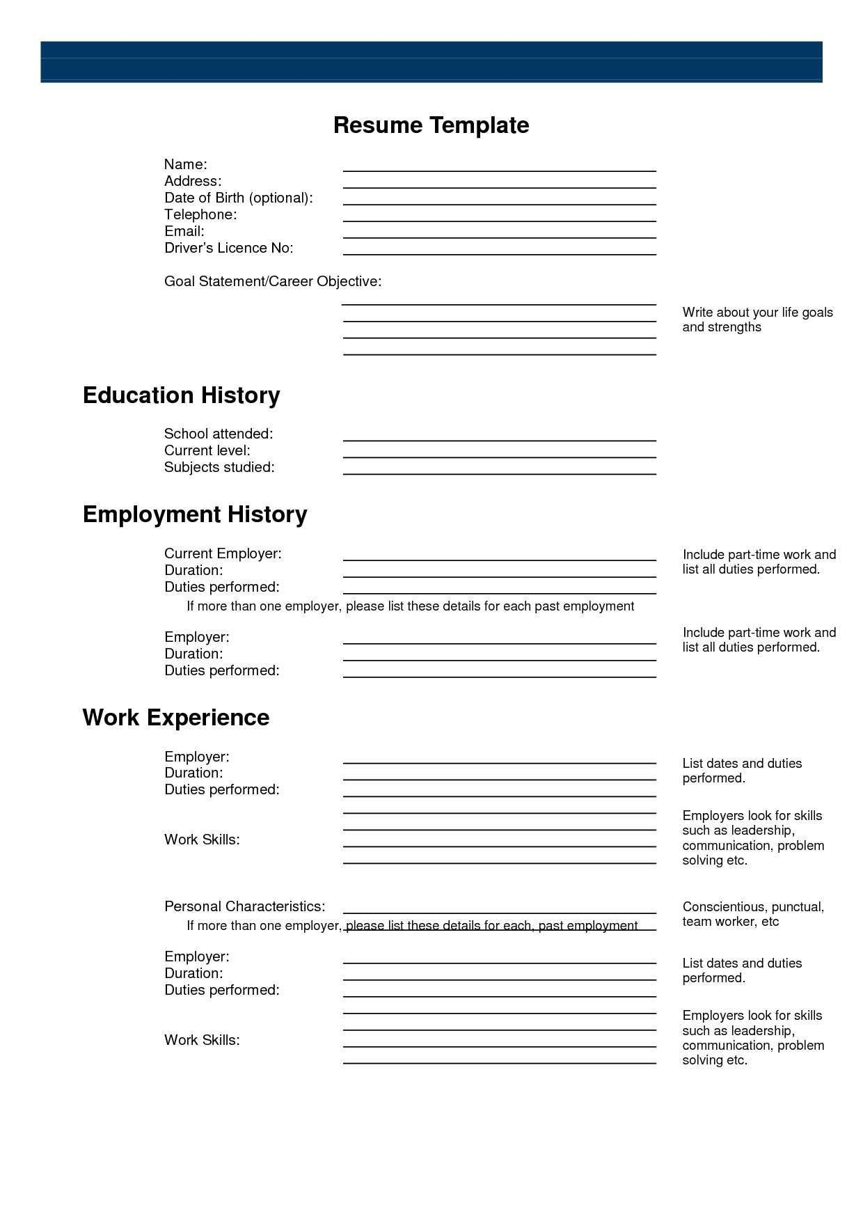 Pinanishfeds On Resumes | Sample Resume Templates, Free - Free Online Resume Templates Printable
