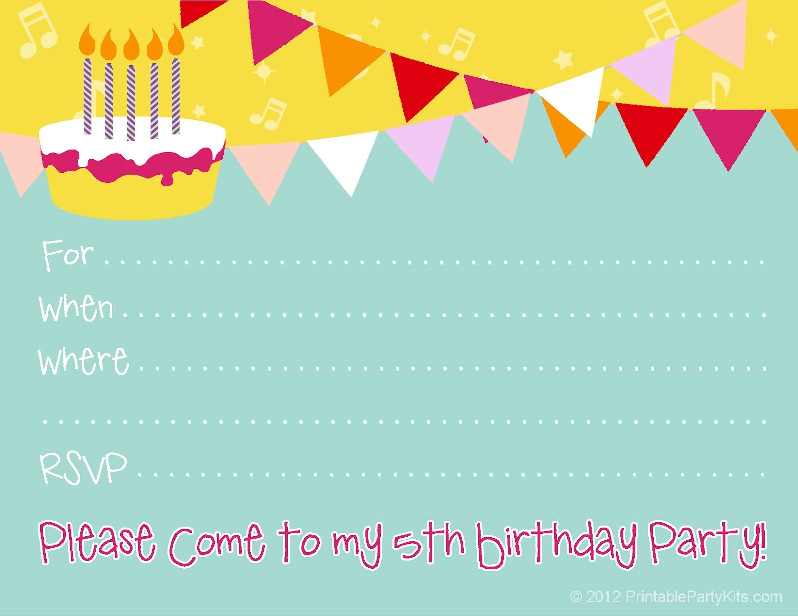 Pincarla Chadwick On Party Printables | Pinterest | Birthday - Happy Birthday Invitations Free Printable