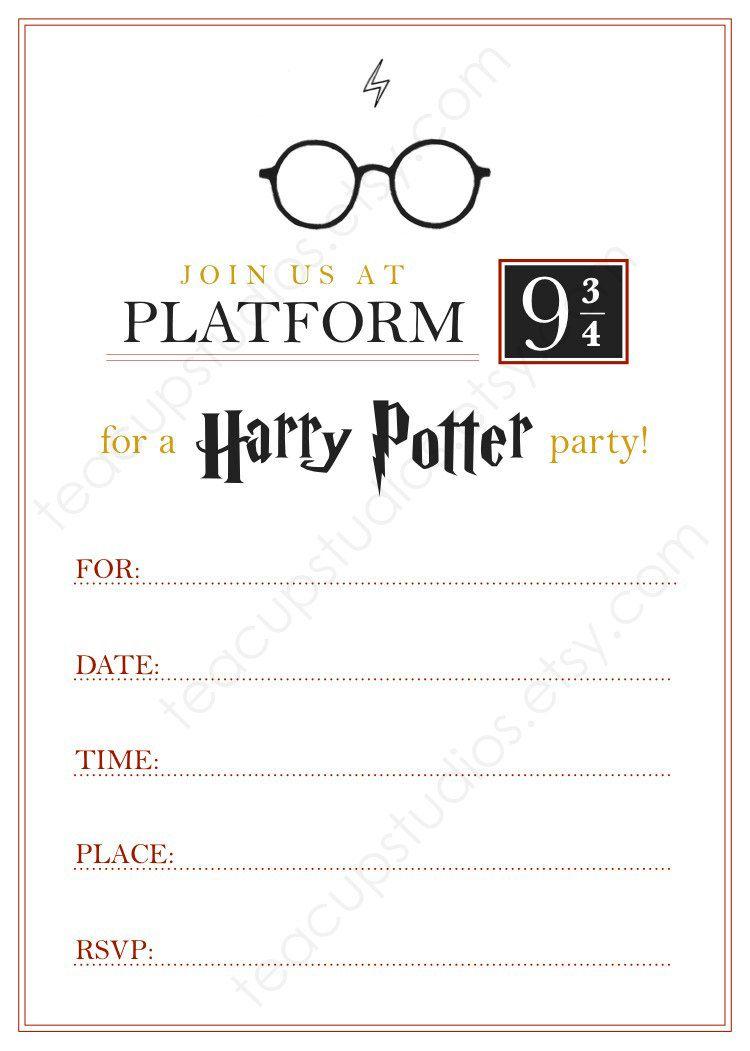 Pindrevio Invitation On Free Printable Birthday Invitation In - Harry Potter Birthday Invitations Free Printable