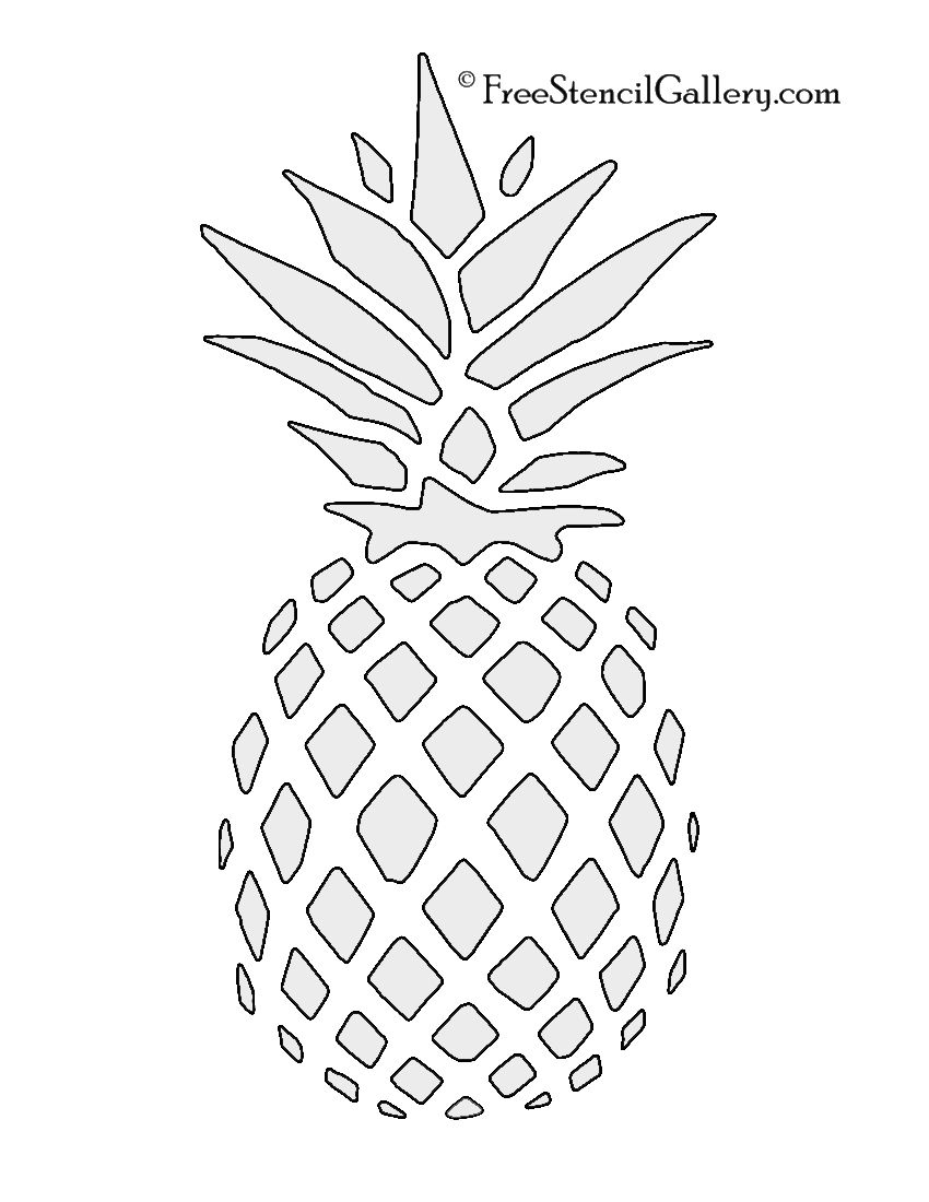 Pineapple Stencil | Free Stencil Gallery | Stencils | Pinterest - Free Printable Stencils For Painting