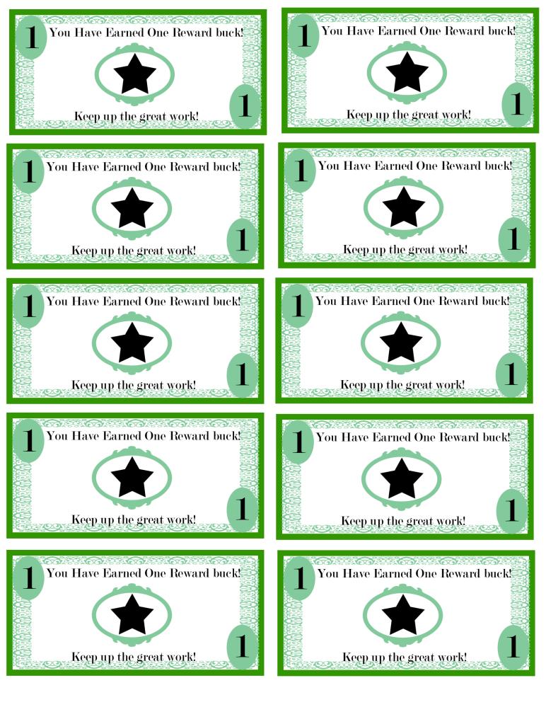 Pinellie Wastin On Teacher's Corner   Pinterest   Kids Rewards - Free Printable Chore Bucks