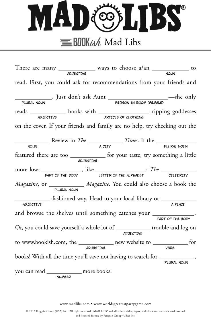 Pinjessica Pyle On Homemade | Pinterest | Free Mad Libs, Mad - Free Printable Mad Libs
