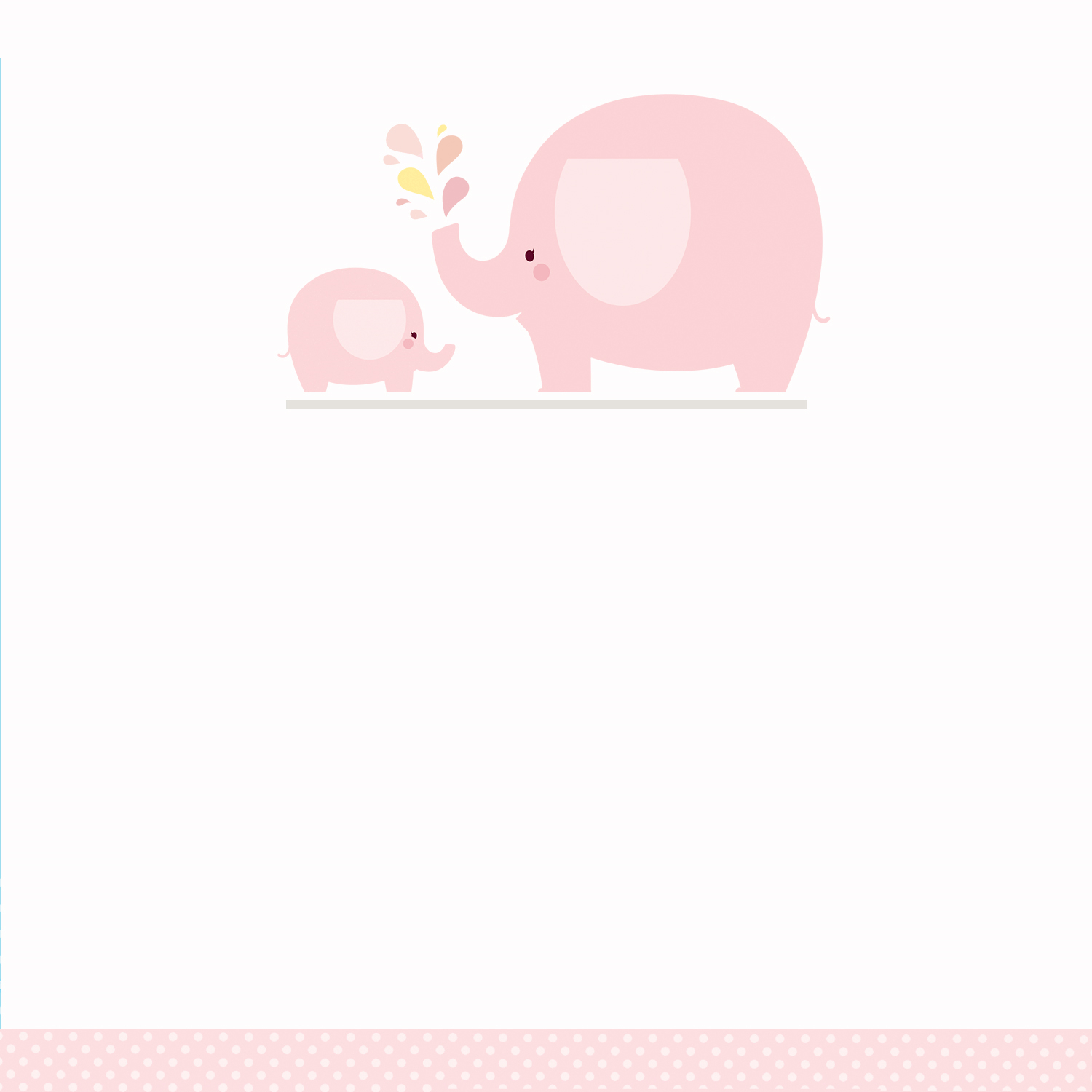 Pink Baby Elephant - Free Printable Baby Shower Invitation Template - Free Printable Elephant Images