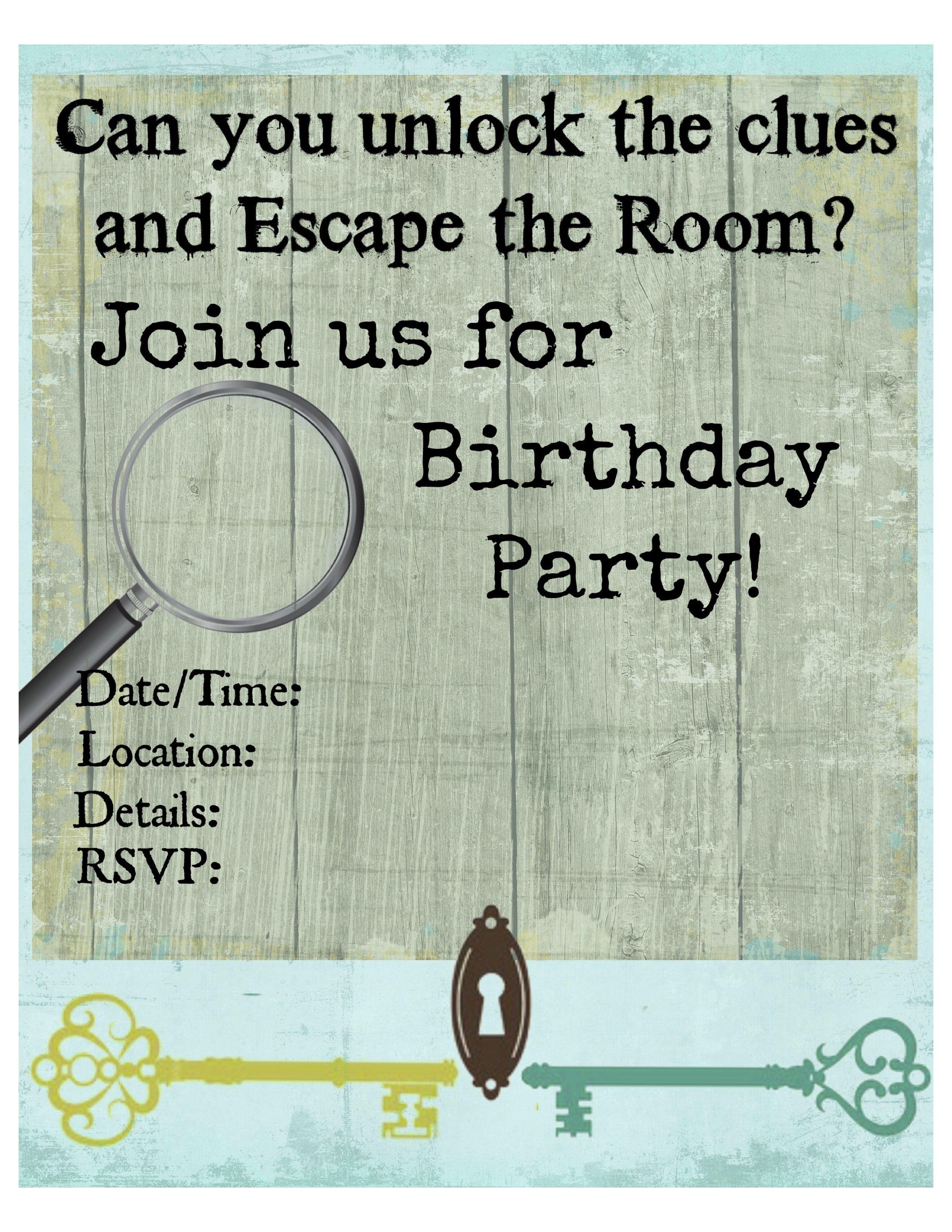 Pinkiki On Γενέθλια | Pinterest | Escape Room, Free Printable - Printable Escape Room Free