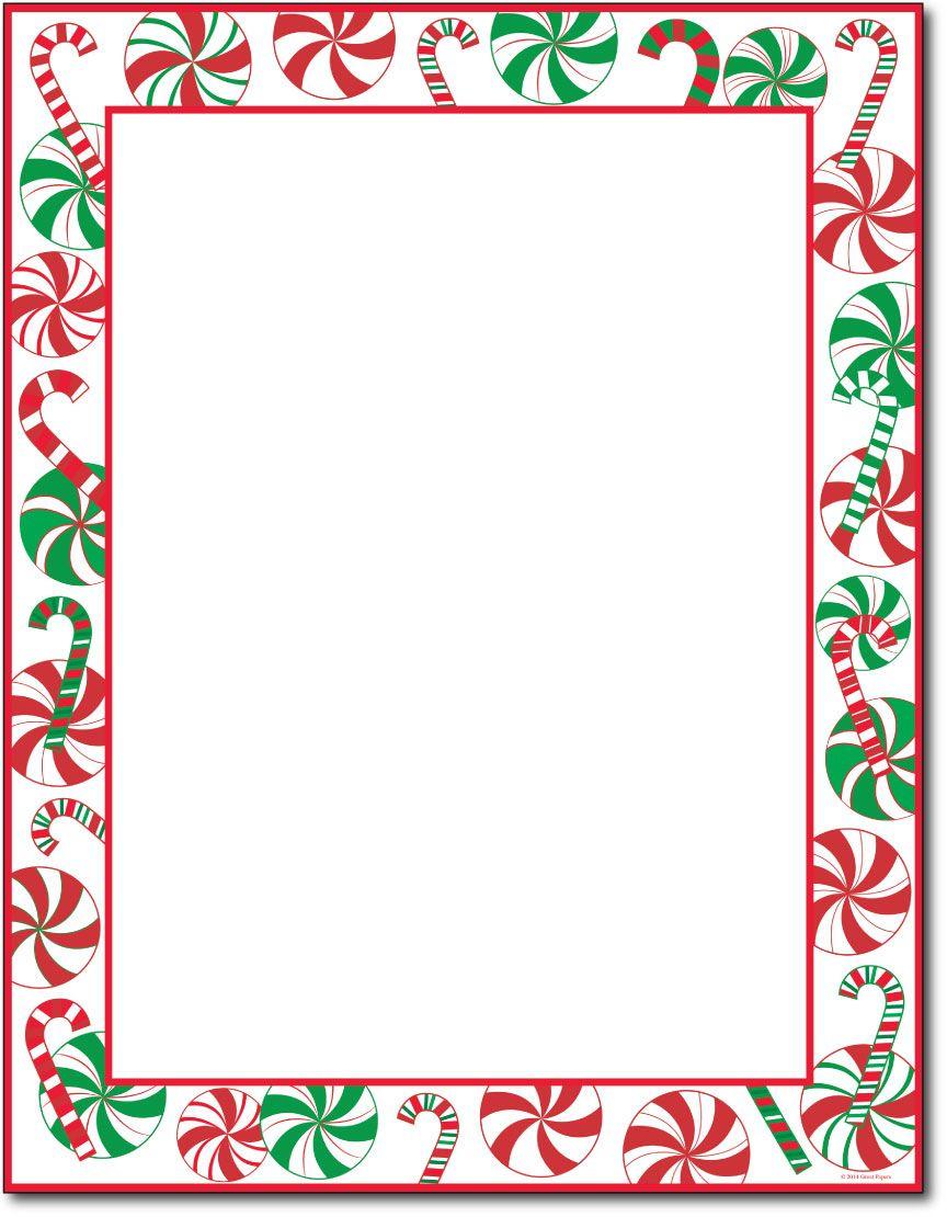 Pinleah Wilson On Christmas Paper | Christmas Letterhead - Free Printable Christmas Paper With Borders