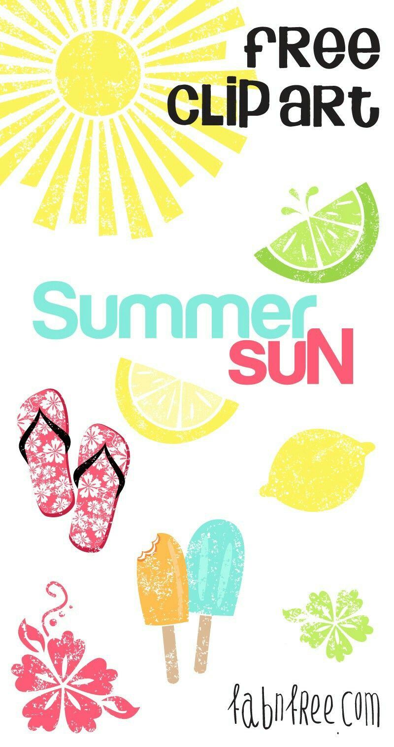 Pinleslie Cortinas On Jjc Birthday Parties | Pinterest | Sun - Free Printable Summer Clip Art