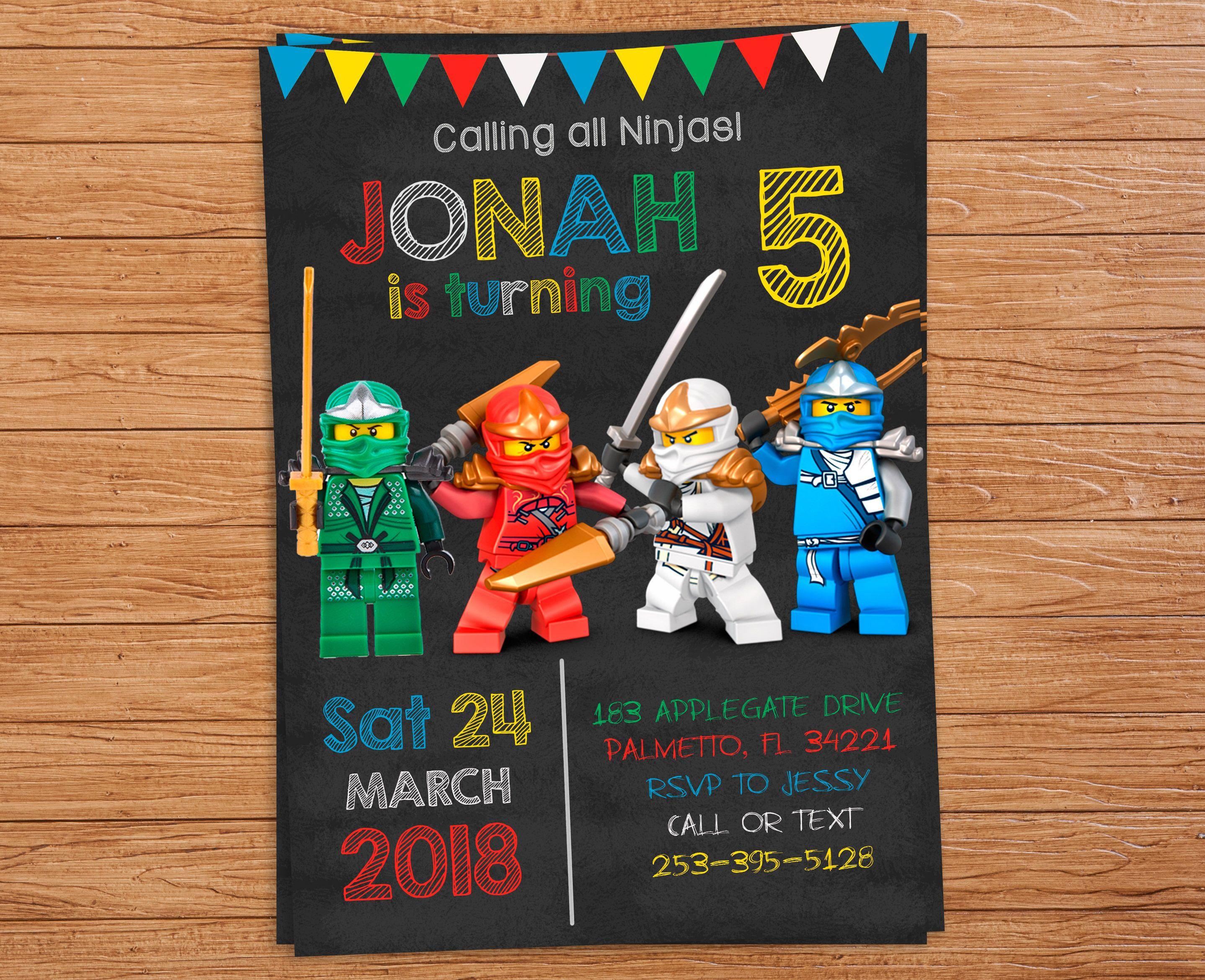 Pinlindsey Hicks On Wesley's 6Th Birthday | Pinterest | Ninjago - Lego Ninjago Party Invitations Printable Free