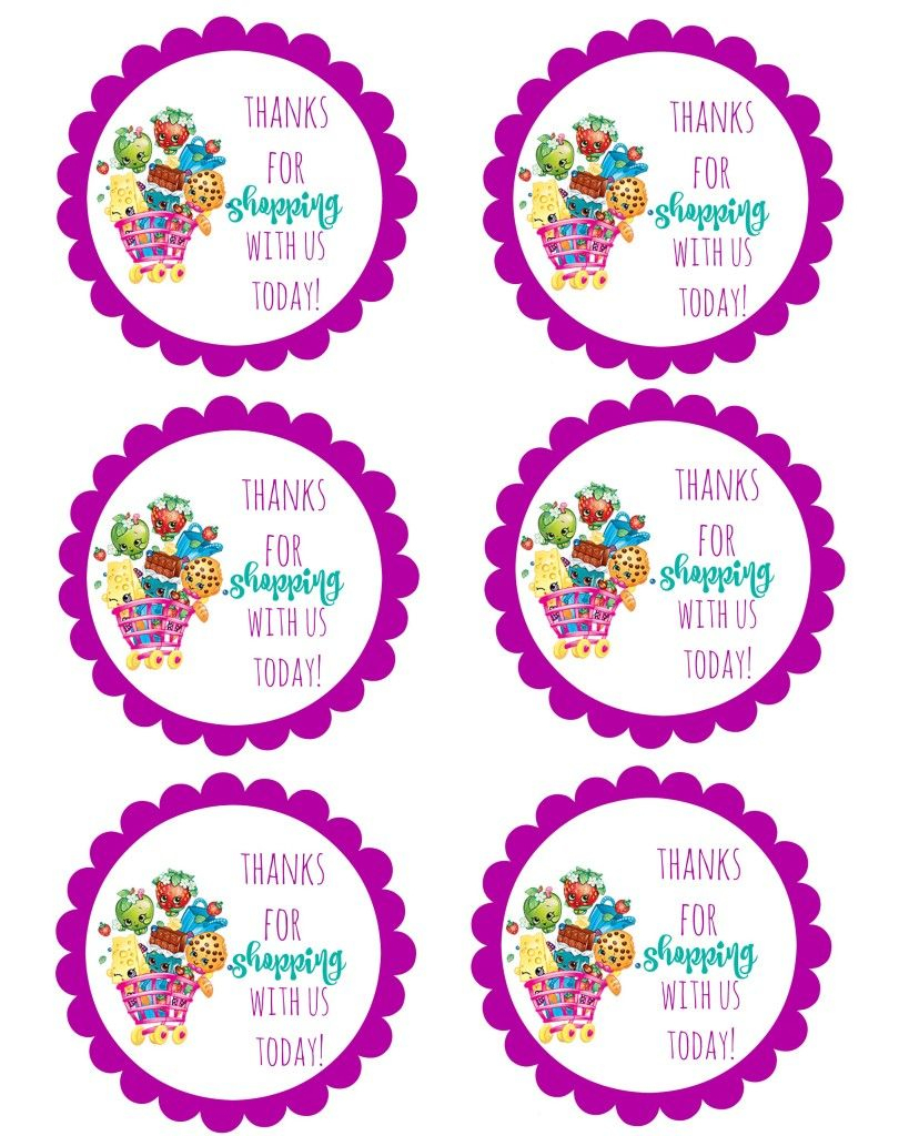 Pinlorena Ermacora On Tarjetas Cumple In 2019 | Pinterest - Free Printable Shopkins Thank You Cards