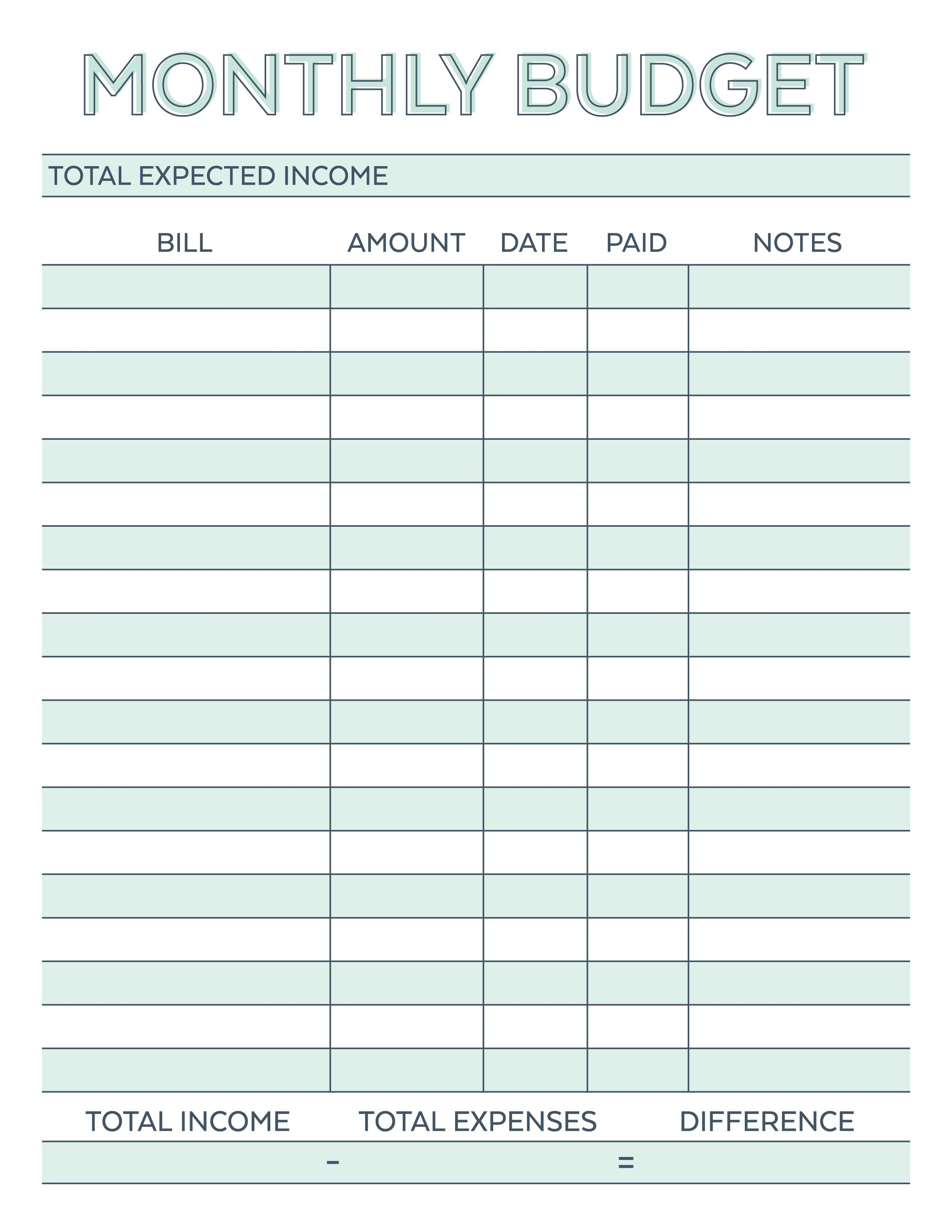 Pinmelody Vliem On Printables | Pinterest | Budget Spreadsheet - Free Printable Monthly Bill Payment Worksheet