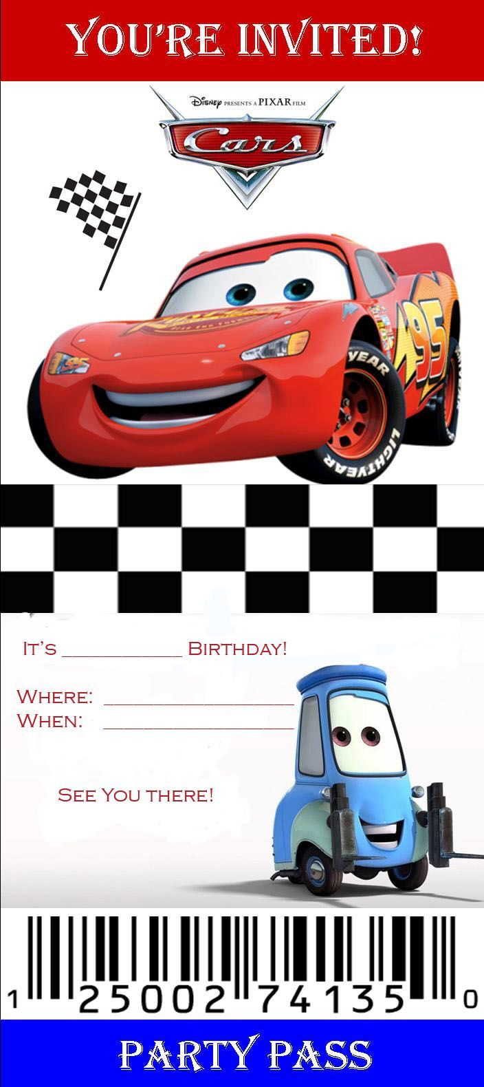 Pinmonica Guajardo On Kids | Cars Birthday Invitations, Disney - Free Printable Disney Cars Birthday Party Invitations