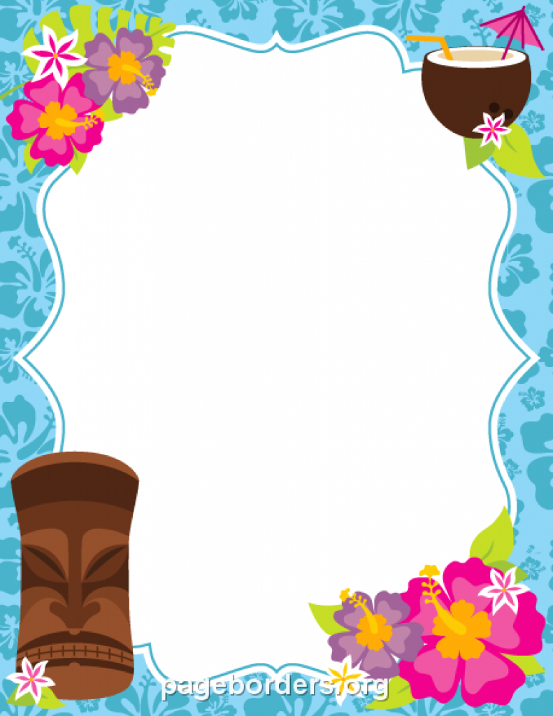 Pinmuse Printables On Page Borders And Border Clip Art Within Free - Free Printable Luau Clipart
