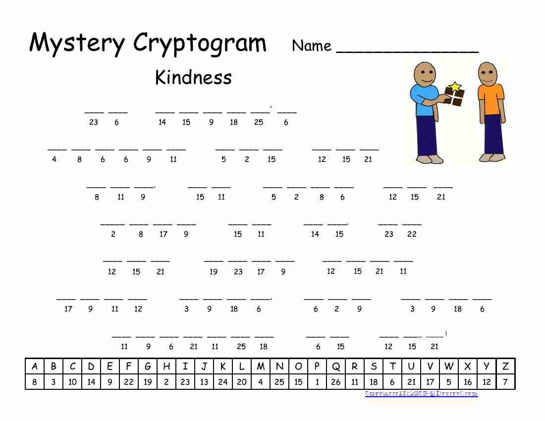 Pinrawa'a El-Hussein On Cryptogram   Puzzles For Kids, Word - Free Printable Cryptograms
