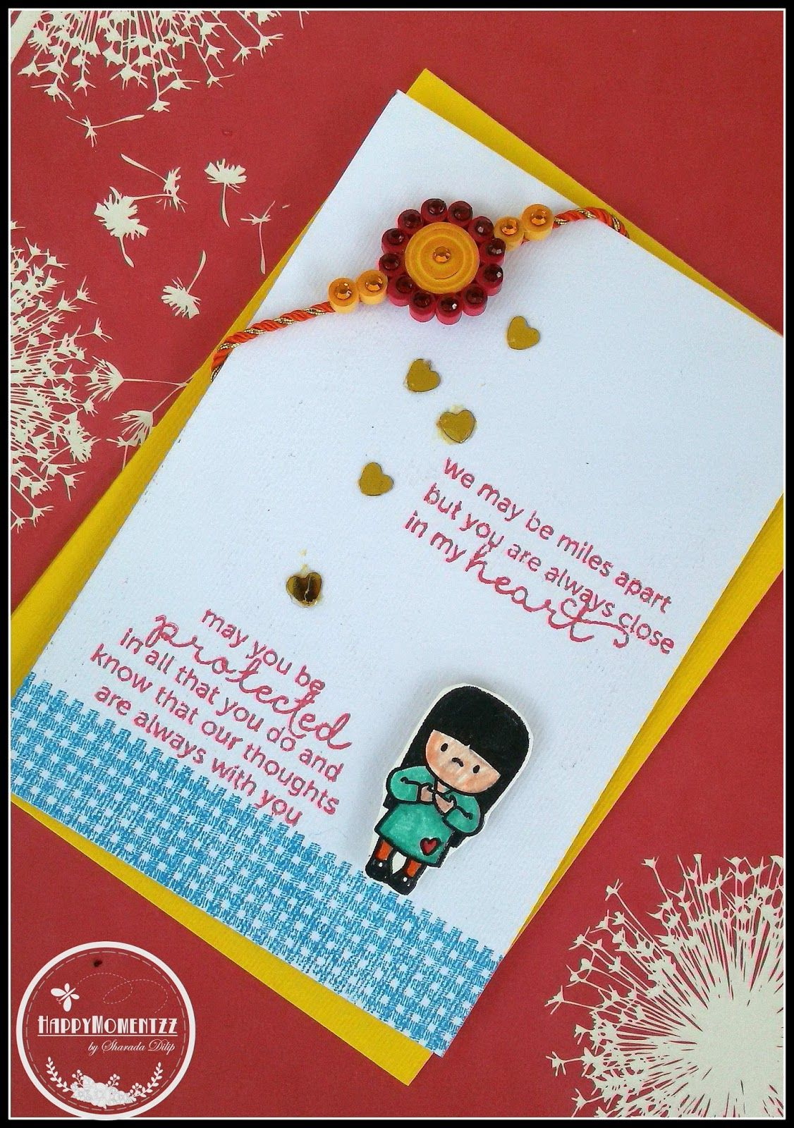 Pinshikha Chamaria On Rakhi Cards   Rakhi Cards, Handmade Rakhi - Free Online Printable Rakhi Cards