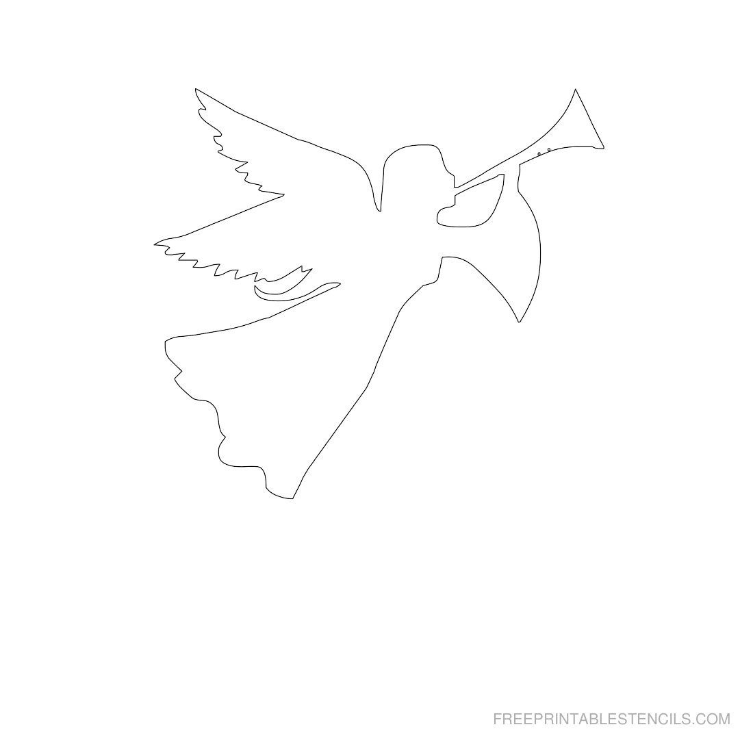 Pinstephanie Bargelski On Angels | Pinterest | Free Stencils - Free Printable Angels
