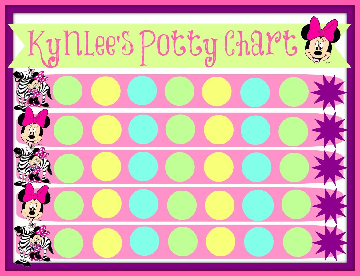 Pinstephanie French On Maddy Fun! | Printable Potty Chart, Potty - Free Printable Minnie Mouse Potty Training Chart