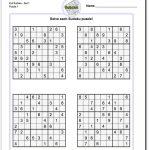 Pinwhispertech On Math Answers | Math Worksheets, Math, Worksheets   Free Printable Sudoku With Answers