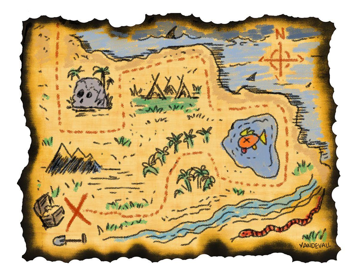 Pirate Map Printable #1171 - Free Printable Pirate Maps