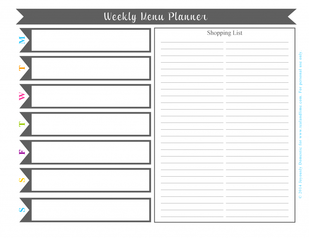Plan Your Weekly Dinner Menu In Under 30 Minutes (Free Printable - Free Printable Weekly Dinner Menu Planner