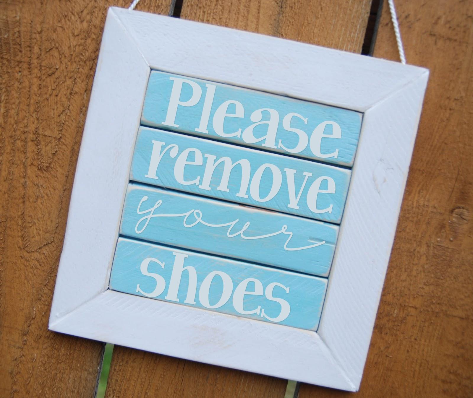 Please Remove Your Shoes Sign - Burton Avenue - Free Printable Remove Your Shoes Sign