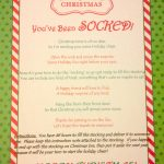 Poem You've Been Socked | The Holiday's | Pinterest | Christmas   You Ve Been Socked Free Printable