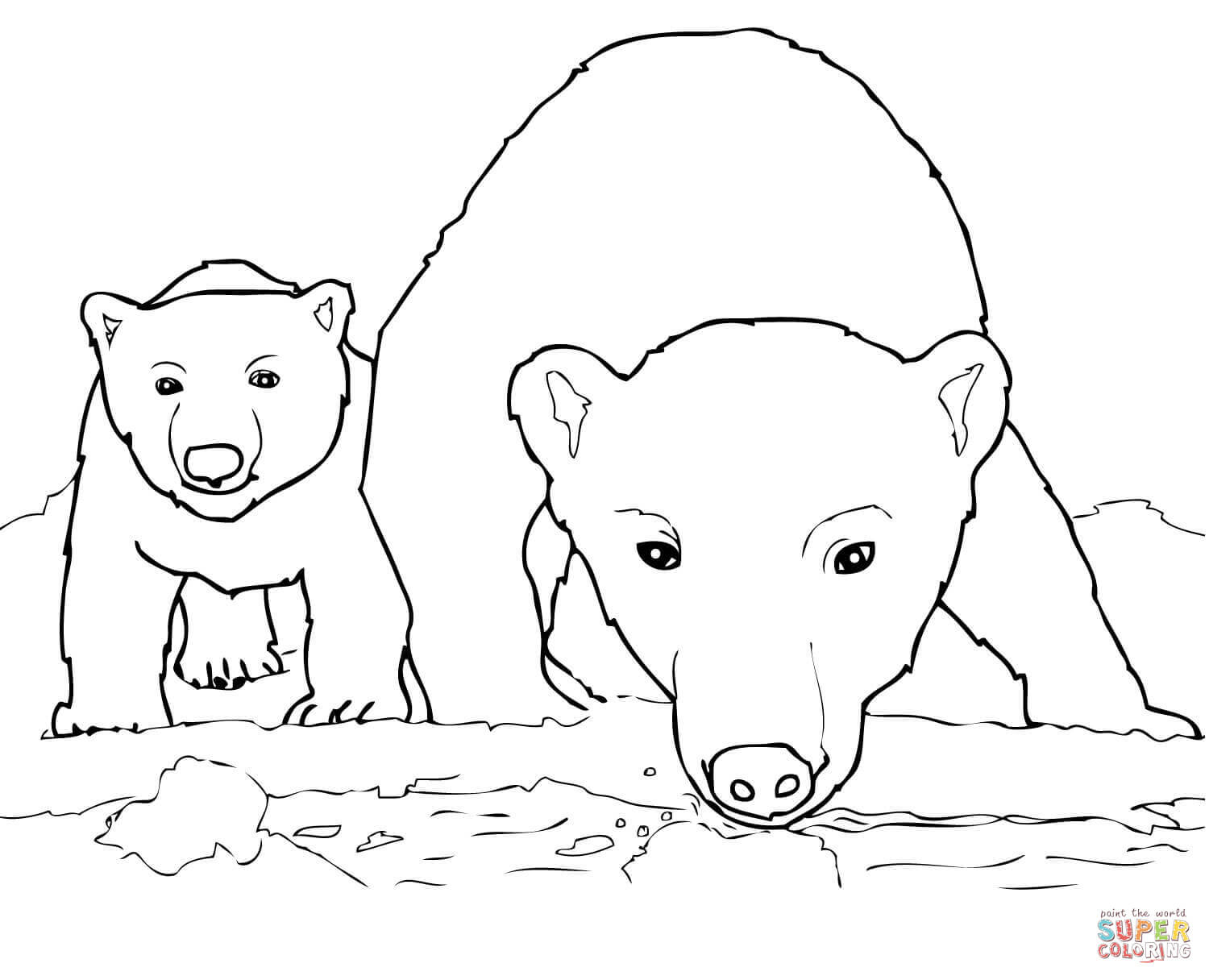 Polar Bears Coloring Pages | Free Coloring Pages - Polar Bear Printable Pictures Free
