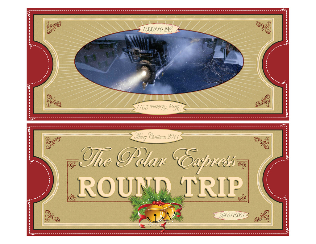 Polar Express Tickets Fold 8.5X11 | Free Printable Polar Exp… | Flickr - Free Polar Express Printable Tickets
