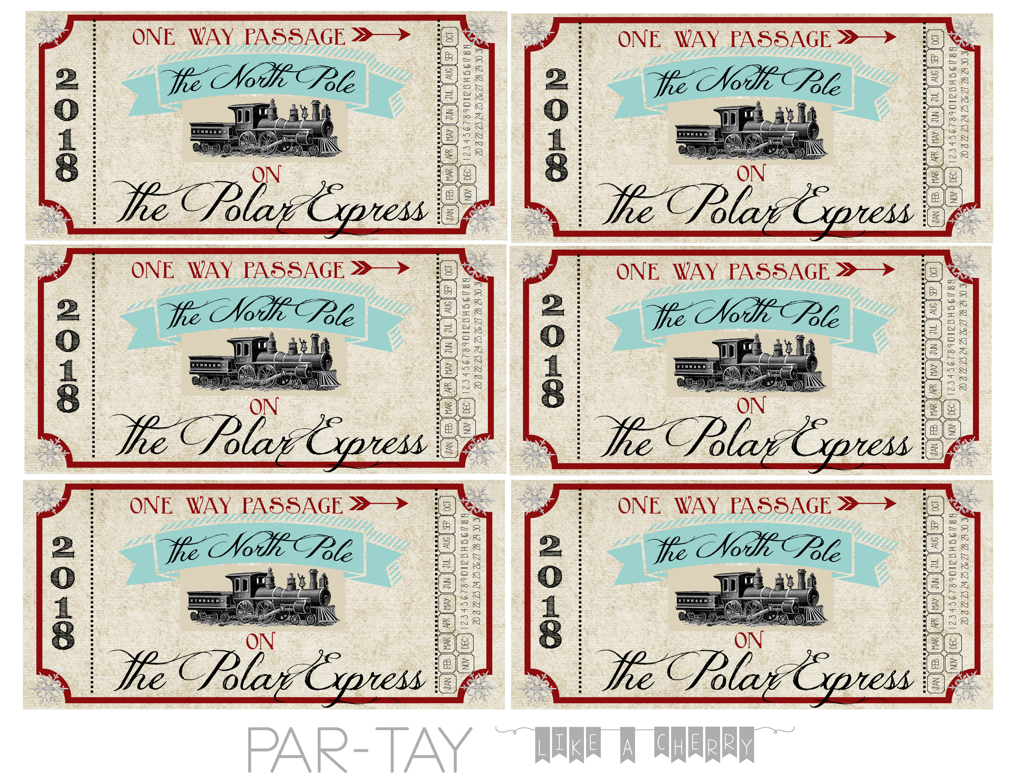 Polar Express Train Tickets Free Printable - Party Like A Cherry - Free Polar Express Printable Tickets