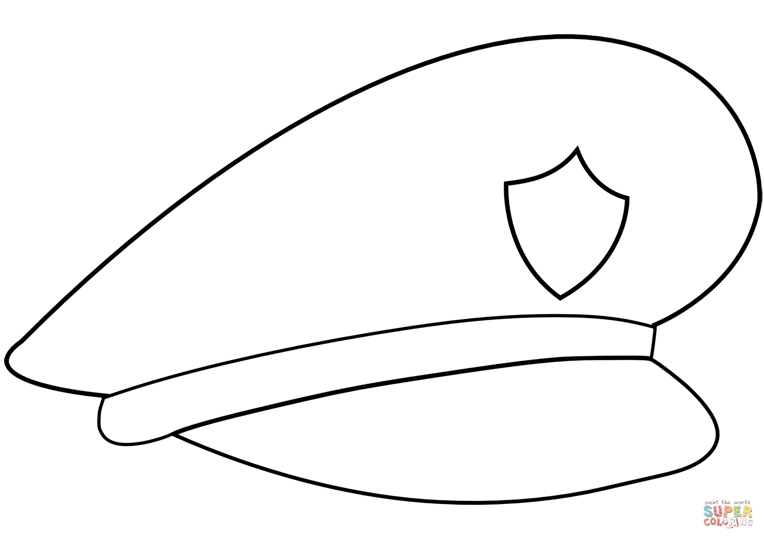 Police Hat Coloring Page   Free Printable Coloring Pages - Free Printable Police Hat