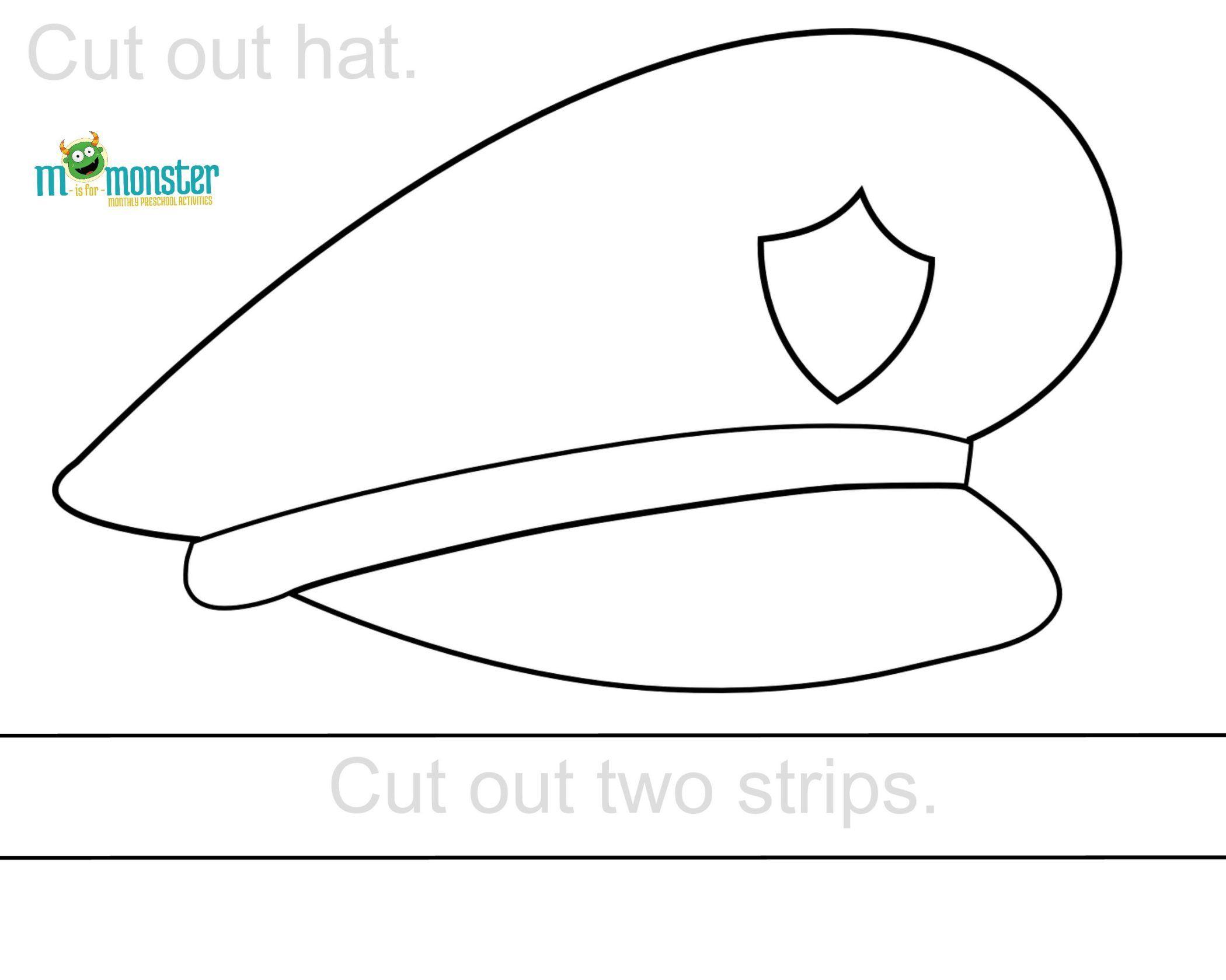 Police Hat Printable   Toddler & Preschool Printables   Police - Free Printable Police Hat