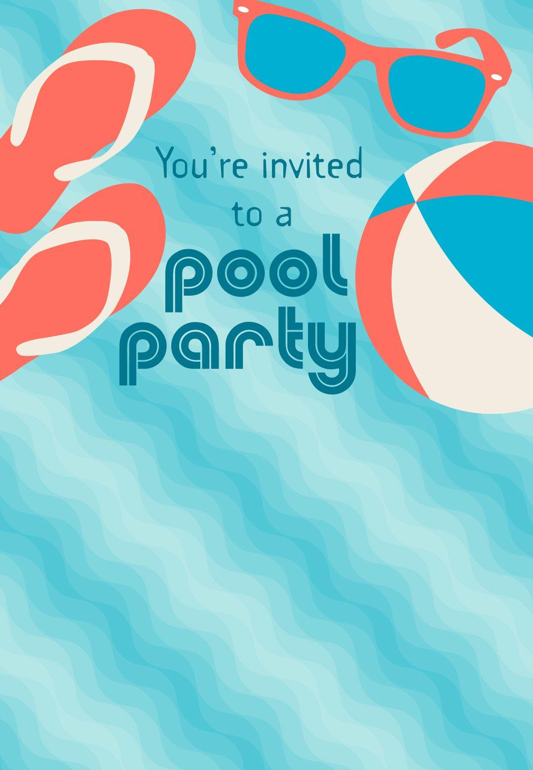 Pool Party #invitation - Free #printable #summer #party | Fun In The - Pool Party Flyers Free Printable
