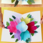 Pop Up Flowers Diy Printable Mother's Day Card   A Piece Of Rainbow   Free Printable Mothers Day Cards No Download