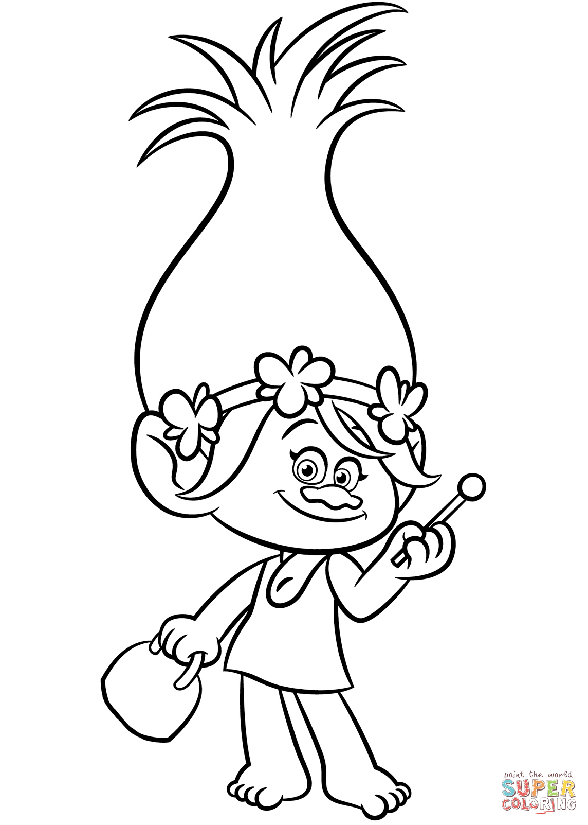 Poppy From Trolls Coloring Page | Free Printable Coloring Pages - Free Printable Troll Coloring Pages