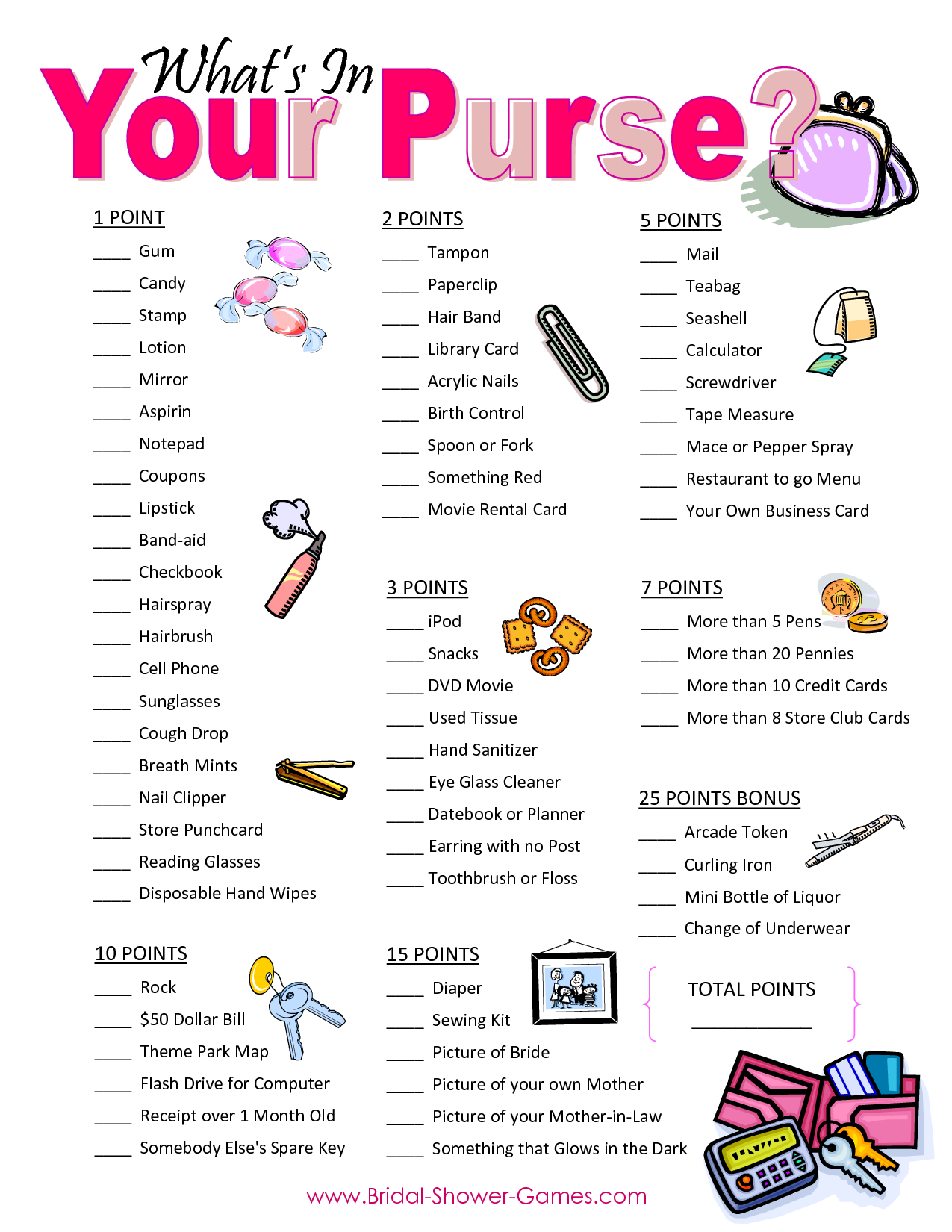 Popular Wedding Shower Games For Free | Business Ideas | Pinterest - Free Printable Baby Shower Games What's In Your Purse
