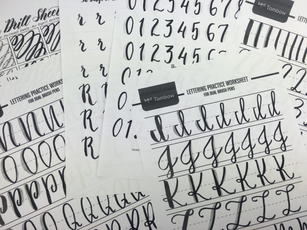 Practicing Calligraphy: Free Printable Brush Lettering Worksheets - Free Printable Calligraphy Worksheets