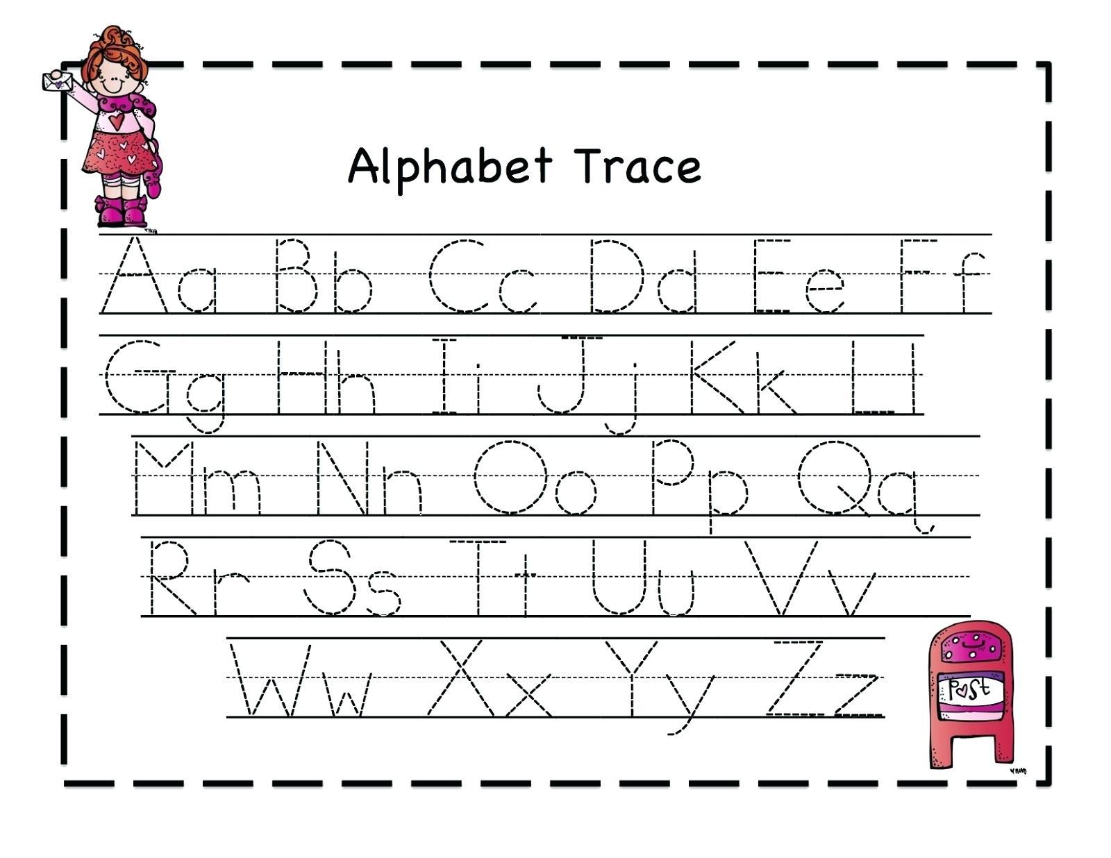 Pre K Letter Tracing Worksheets A With Pre Kindergarten Alphabet - Free Printable Alphabet Worksheets For Kindergarten