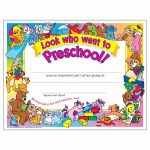 Preschool Certificate Templates Awesome Free Printable Preschool   Free Printable Children's Certificates Templates