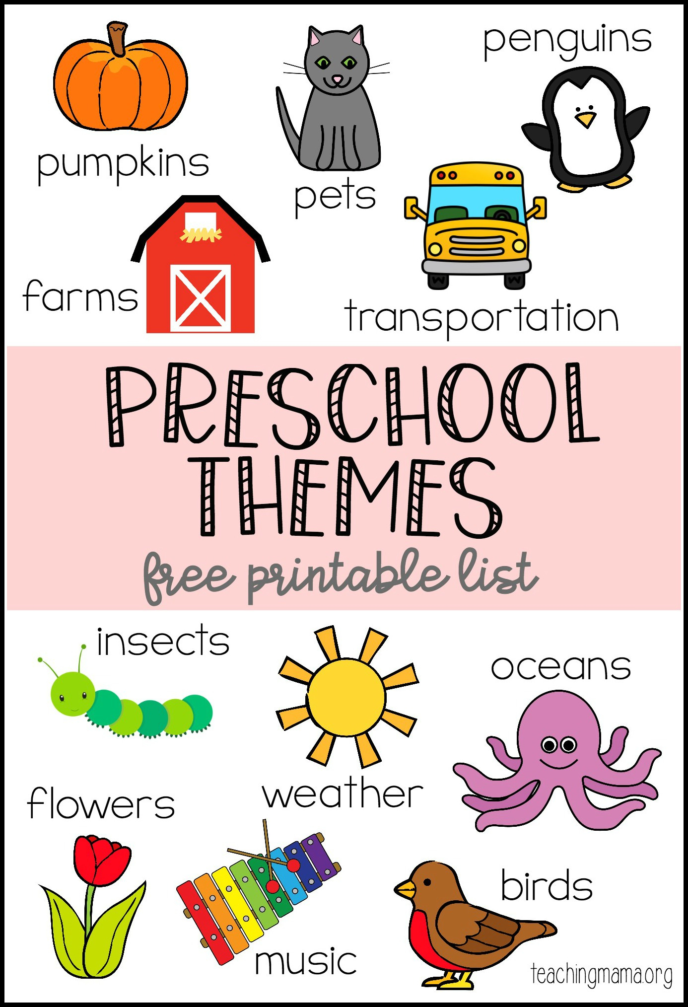 Preschool Themes Printable - Free Printable Picture Schedule For Preschool