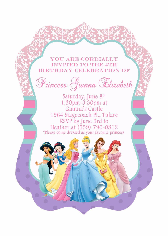 Princess Birthday Invitations Free — Birthday Invitation Examples - Disney Princess Birthday Invitations Free Printable