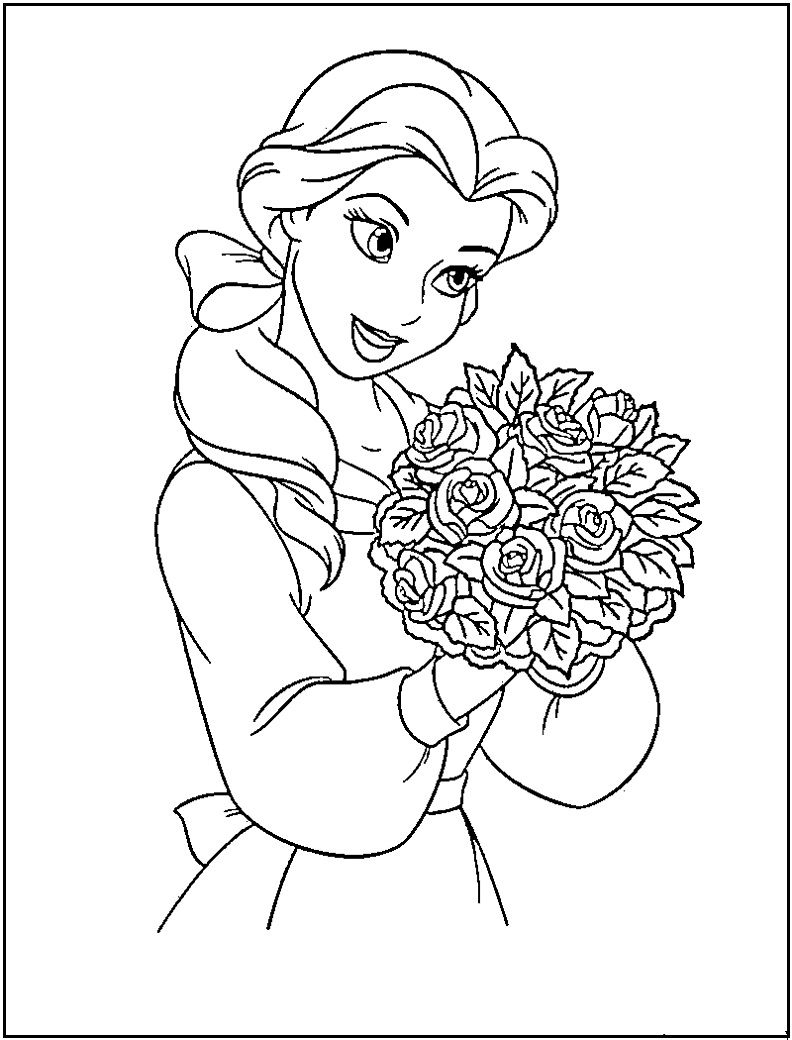 Princess Coloring Pages Printable | Disney Princess Coloring Pages - Free Printable Princess Jasmine Coloring Pages