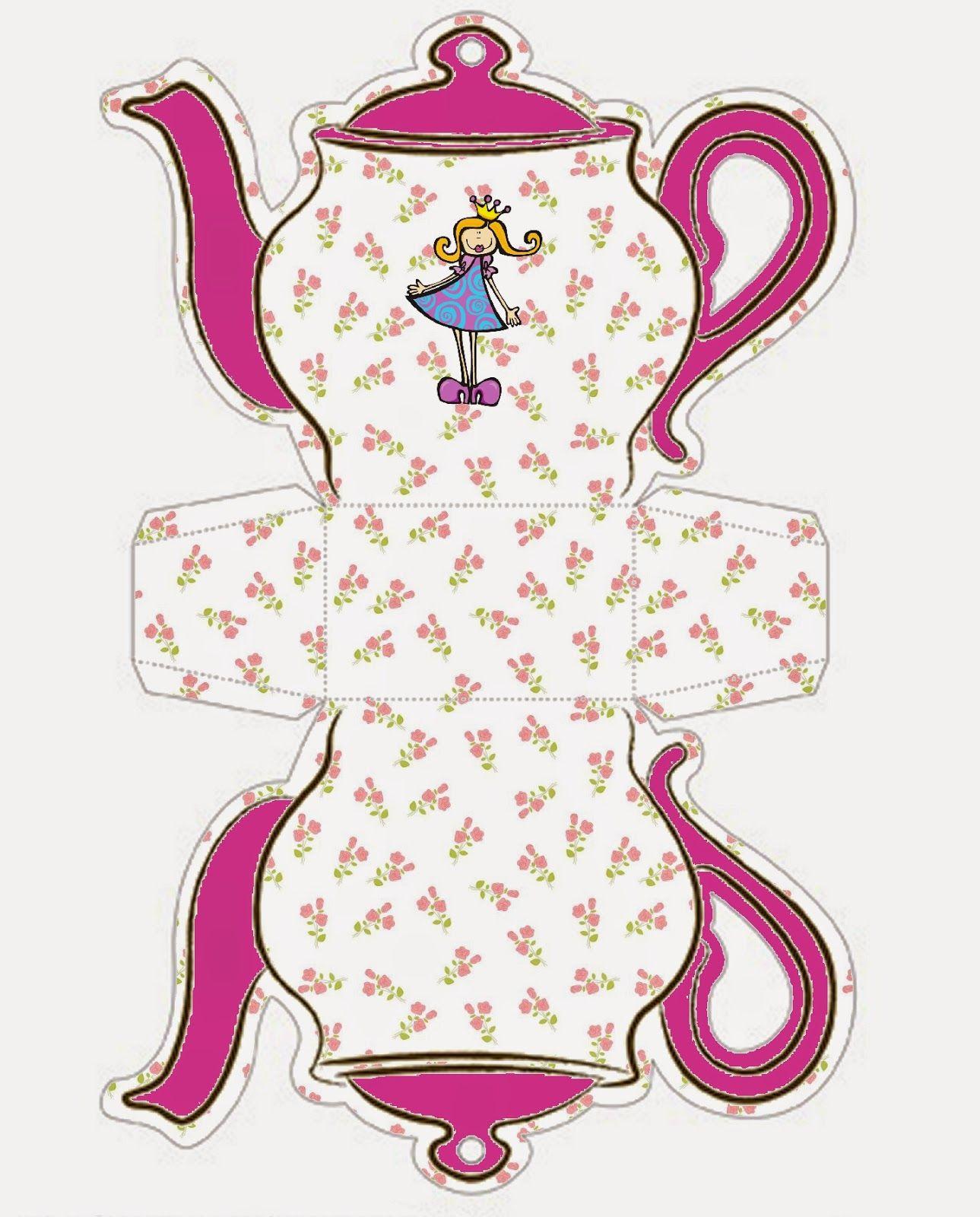 Princess: Teapot Free Printable Box. | Oh My Fiesta! In English - Free Teapot Printable