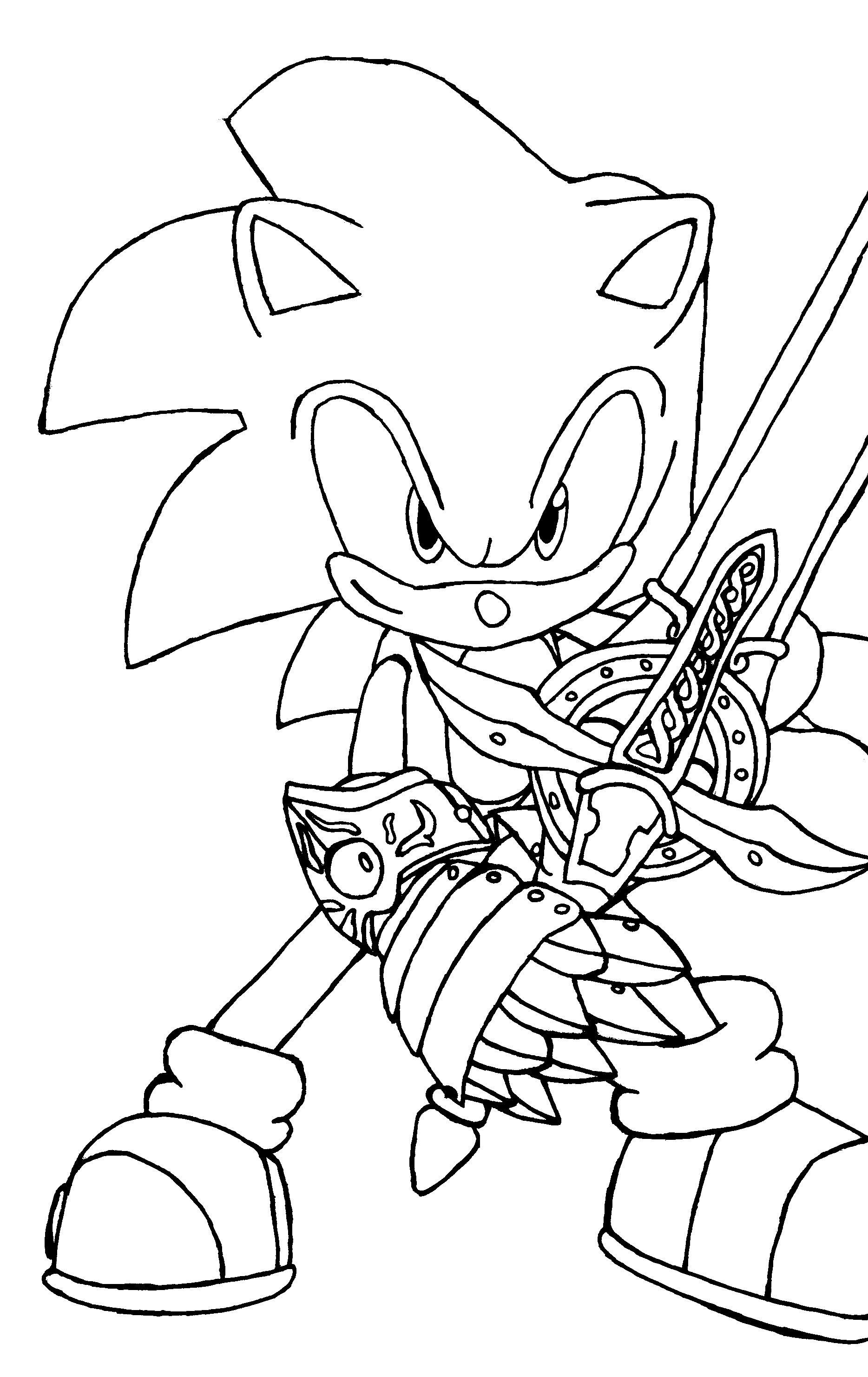 Print Pictures Of Sonic   Sonic The Hedgehog Coloring Pages Free - Sonic Coloring Pages Free Printable