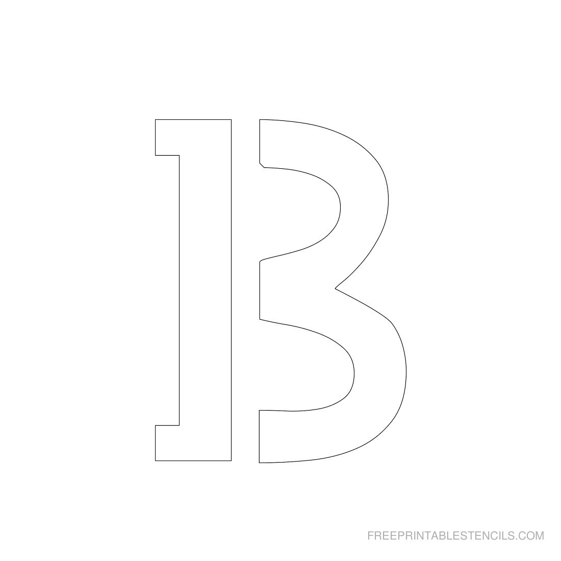 Printable 3 Inch Letter Stencils A-Z   Free Printable Stencils - Free Printable 3 Inch Number Stencils