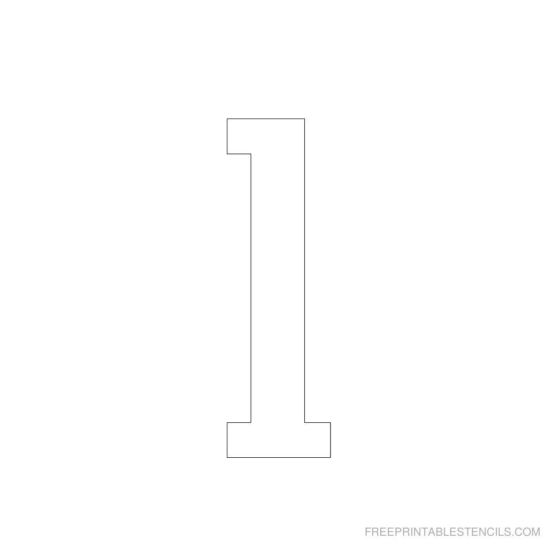 Printable 3 Inch Number Stencils 1-10   Free Printable Stencils - Free Printable 3 Inch Number Stencils