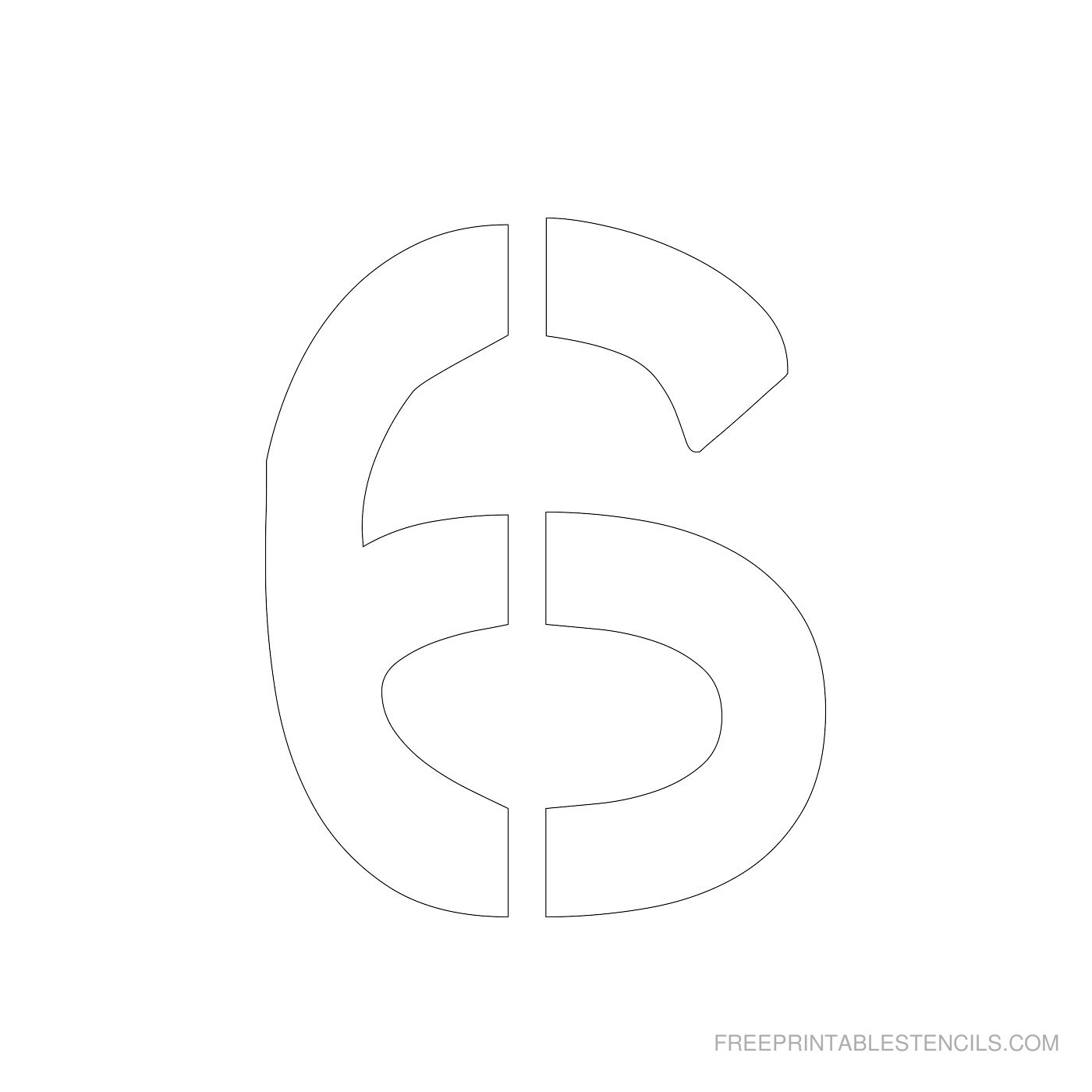 Printable 4 Inch Number Stencils 1-10 | Free Printable Stencils - Free Printable 4 Inch Number Stencils