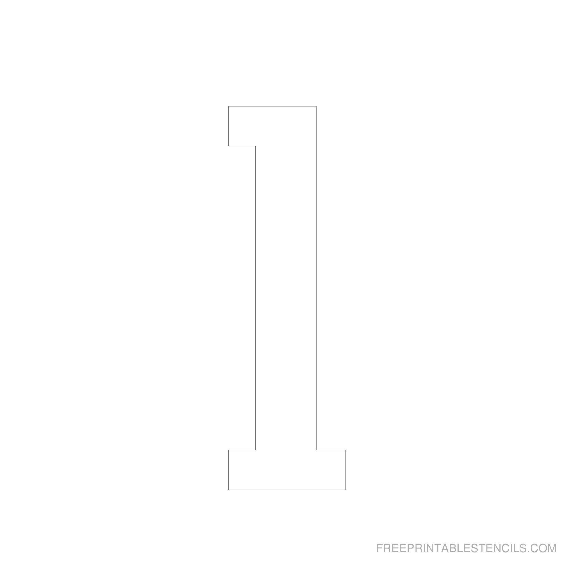 Printable 6 Inch Number Stencils 1-10   Free Printable Stencils - Free Printable Fancy Number Stencils