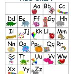 Printable Abc Chart With Pictures | Preschool | Abc Chart, Abc For   Free Printable Alphabet Chart